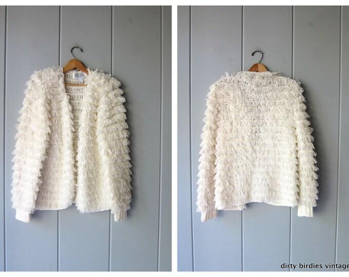 80s Shaggy Sweater Coat