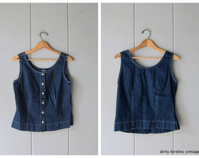 90s Denim Tank Top / Medium