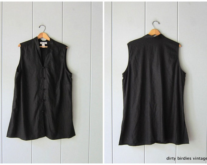 Black Knot Button Tunic XL