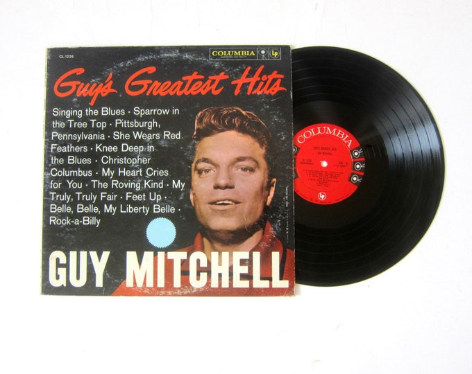 Guy Mitchell Guy's Greatest Hits Vinyl Record Album 12 Inch LP Vintage Music Columbia Record Album