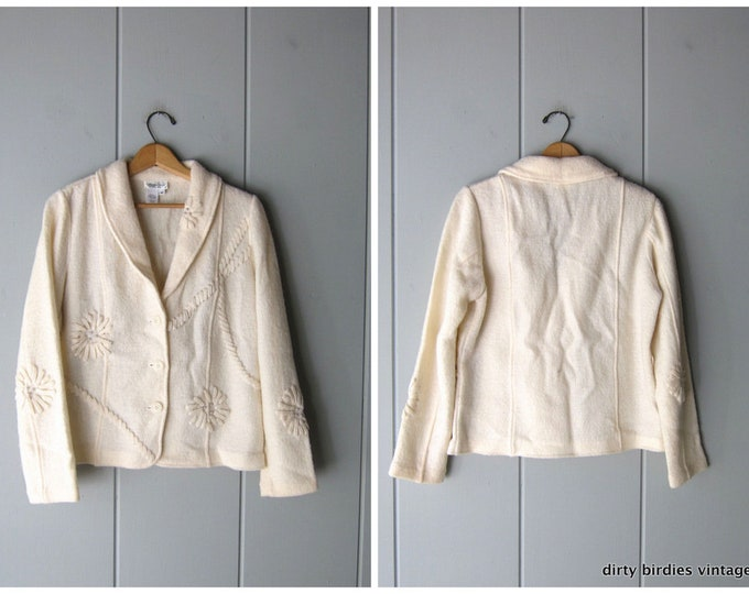 White Wool Sweater Coat