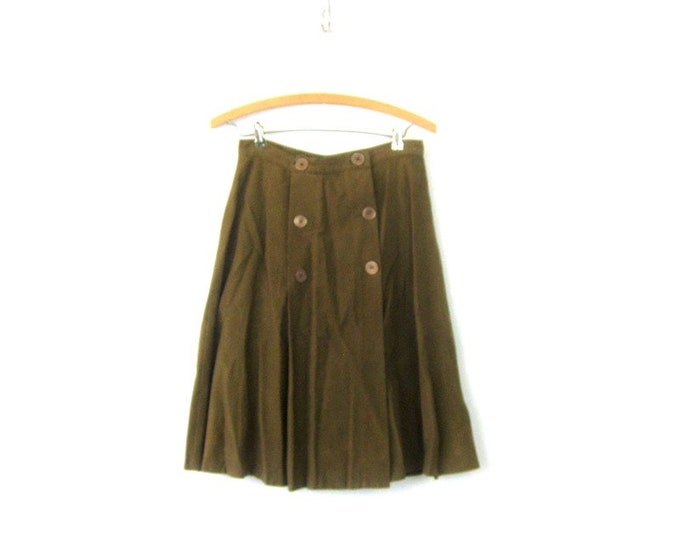 50s Army Green Skirt