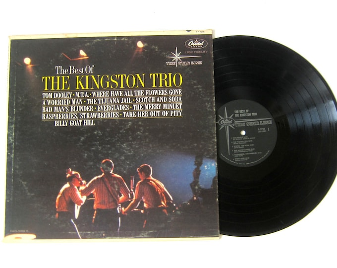 Best of the Kingston Trio Vinyl Record Album 12 Inch LP Vintage Music Capitol Record Album