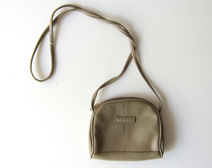 Small Taupe Purse 90s Vegan Mini Wallet Purse Vintage Small Shoulder Bag Crossbody Minimal Travel Coin Purse Across Body Purse