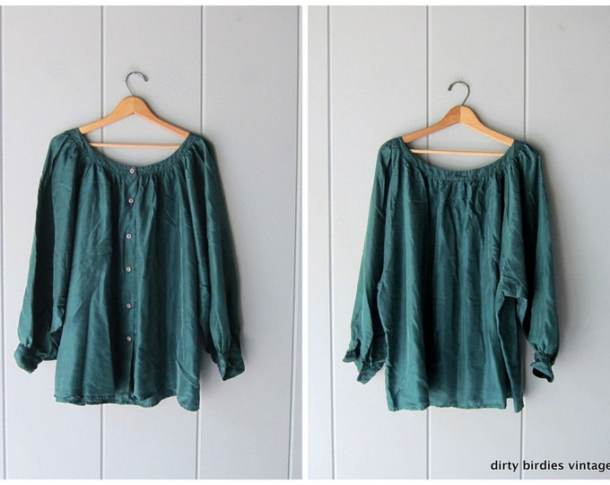 Billowy Silk Blouse