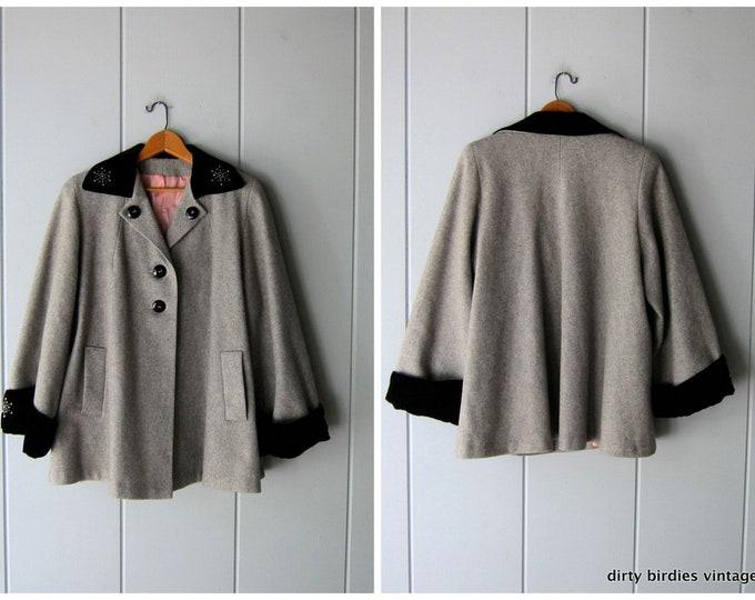 30s/40s Wool Cape Coat