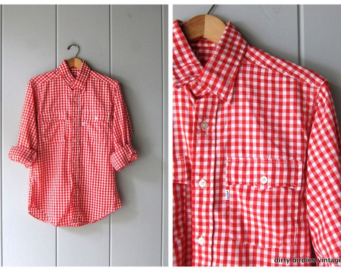 Levis Red White Checkered Shirt