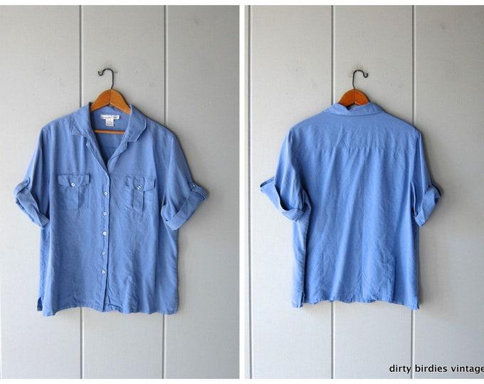 Dusty Blue Silk Blouse