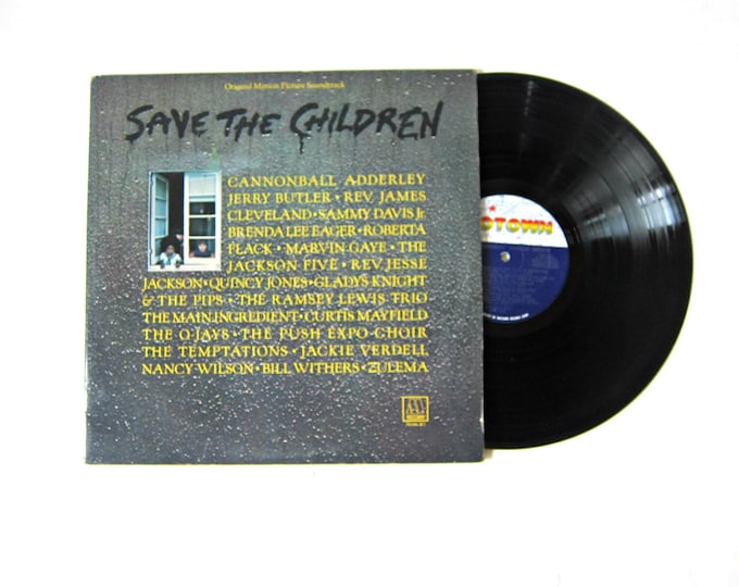 Save the Children Double Vinyl Record Album 12 Inch LP Vintage Music Motown Record Album