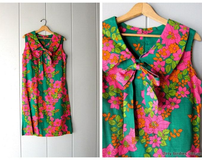 60s Floral Shift Dress