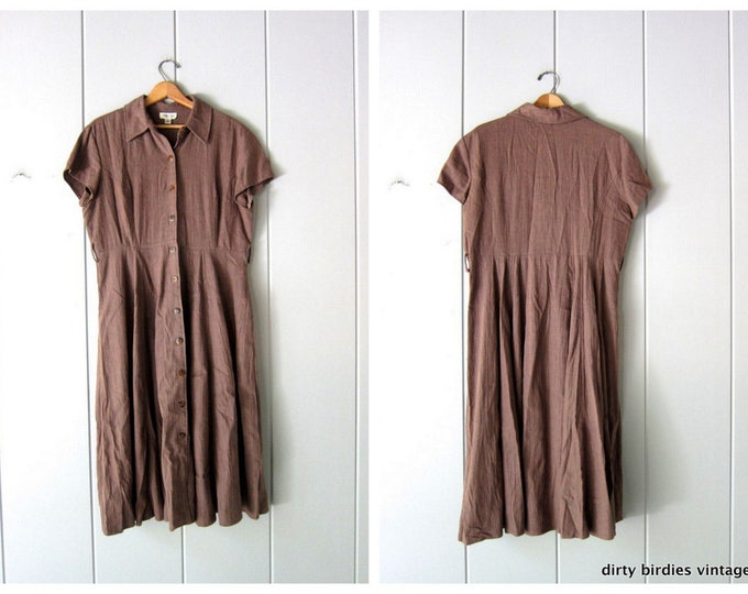Cocoa Linen Dress L/XL