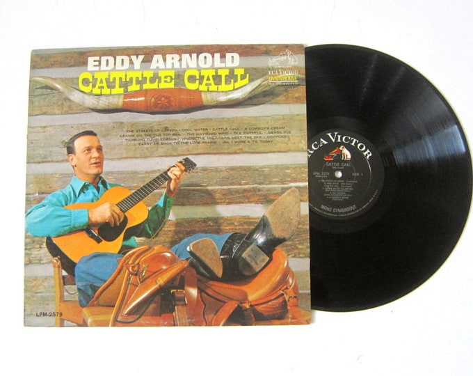 Eddy Arnold Cattle Call Vinyl Record Album 12 Inch LP Vintage Music RCA Victor Record Album