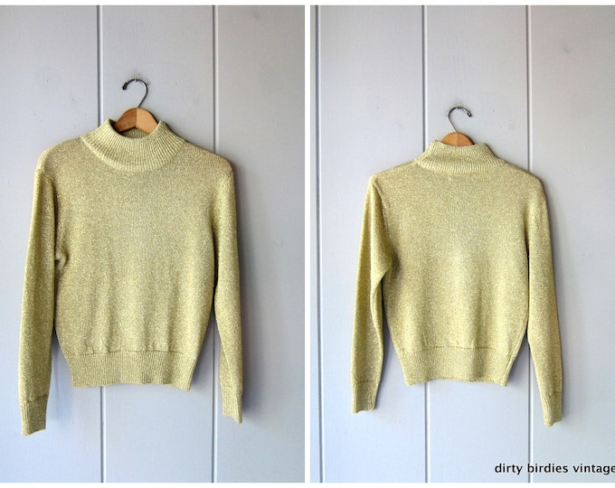 80s Metallic Gold Sweater - S/M