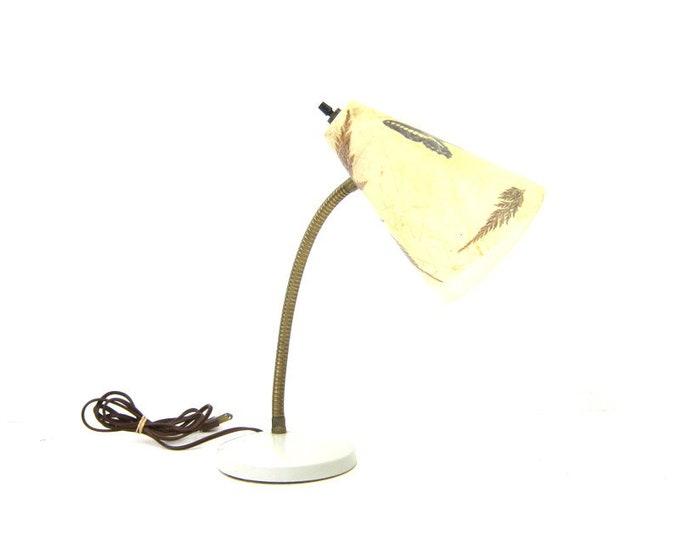 Vintage metal Gooseneck desk lamp Butterfly Lamp Shade Modern Home Decor