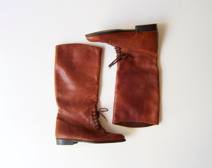 Leather Equestrian Riding Boots 7.5 / 8