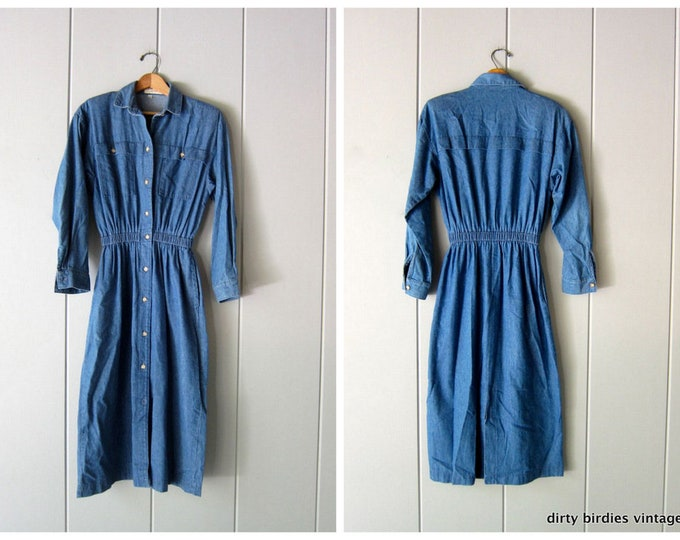 Long Sleeve Jean Dress - 6P