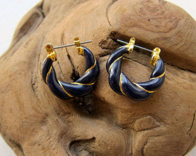 Gold & Blue Hoops