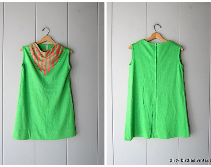 Mod 60s Mini Dress - S/M