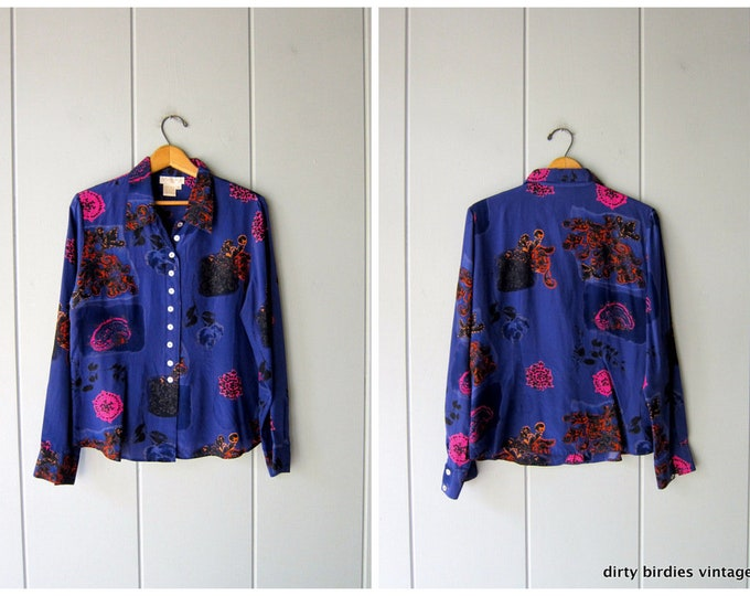 Printed Silk Blouse - large