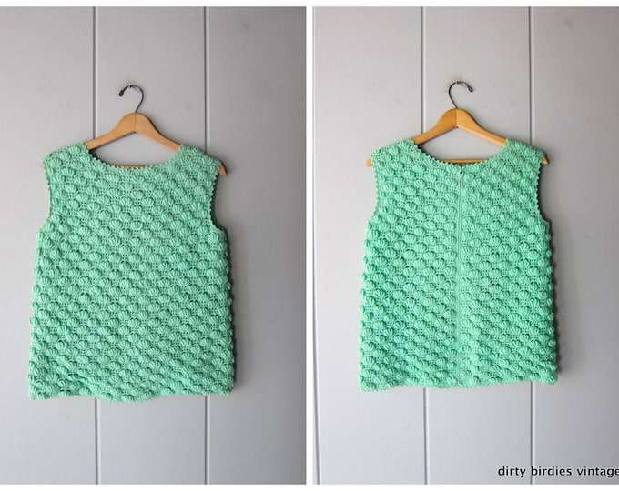 50s Textured Wool Knit Top