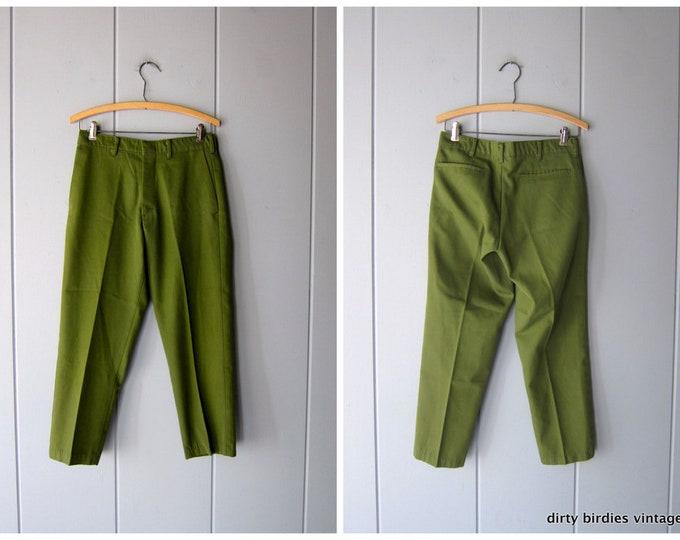 Olive Green Grandpa Pants