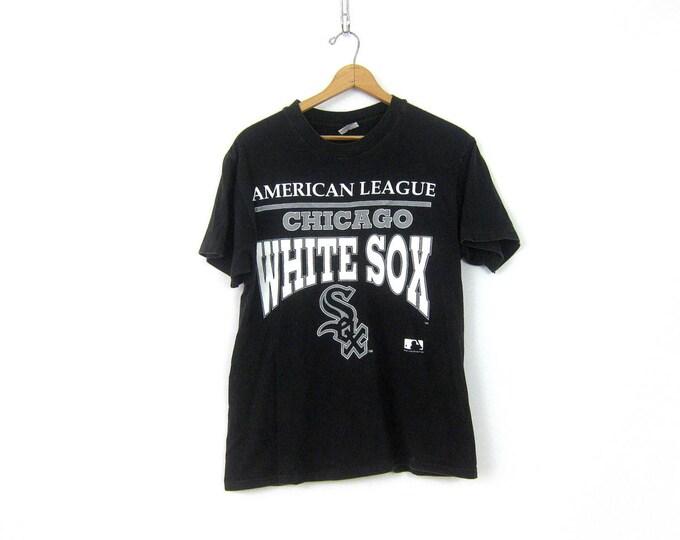Chicago White Sox Tshirt 1990s Cotton Baseball T Shirt Oversized 1992 Novelty Tee Shirt Urban Hipster Unisex size Large