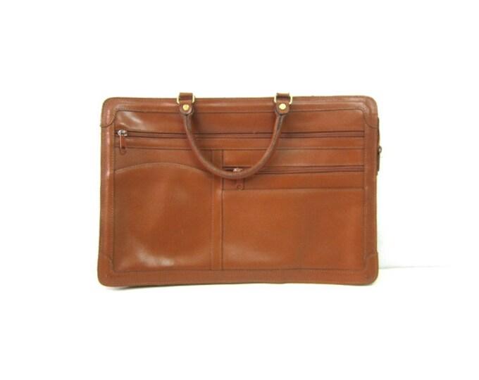 Brown Leather Bag LAPTOP Bag Preppy College Messenger Purse Office Briefcase Work Bag