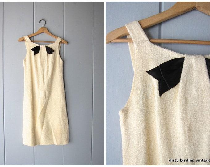 60s Coco Wool Shift Dress - XS
