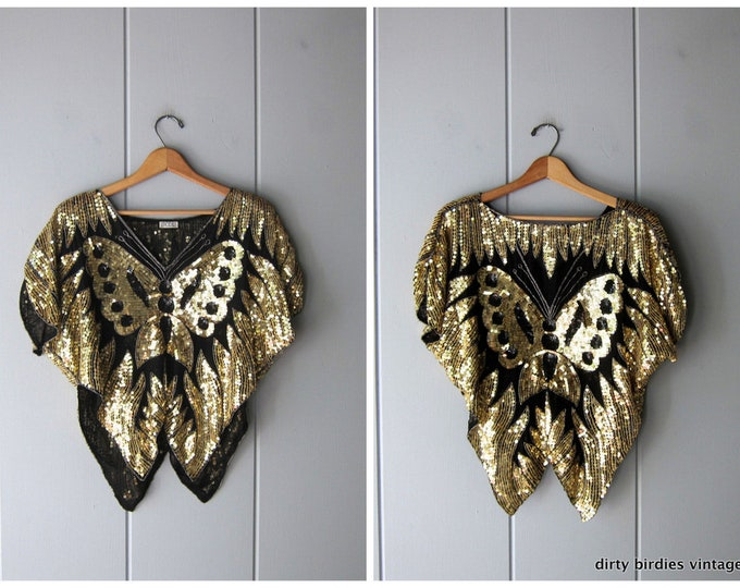 Butterfly Sequins Top