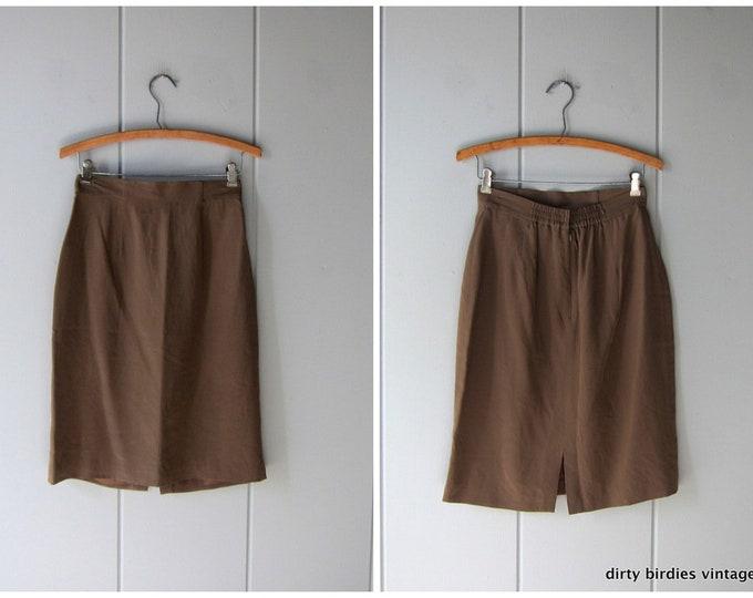Silk Pencil Skirt - 6