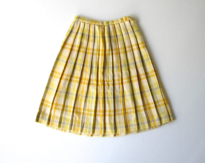 Plaid 50s Wool Skirt