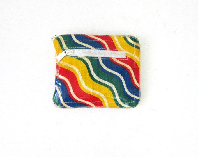 Vintage Tote Market Bag Rainbow Wallet Grocery Bag Reusable Carry All Travel Beach Bag Purse Yellow Red Retro Zipper Wallet Pouch