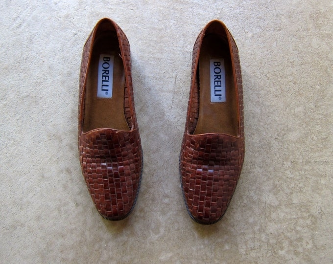 Woven Leather Shoes 7.5/8