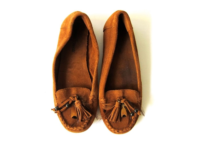 leather moccasins - 7.5