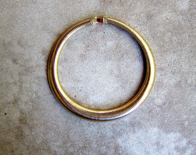 Gold Coil Necklace