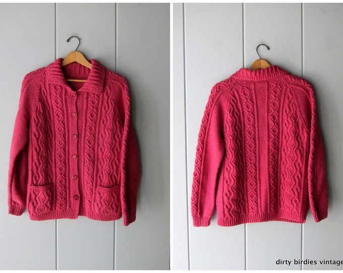 Handwoven Pink Cardigan S/M