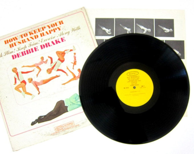 How to Keep Your Husband Happy Debbie Drake LP Album Vinyl Record Album 12 Inch LP Vintage Epic Record Album with Booklet