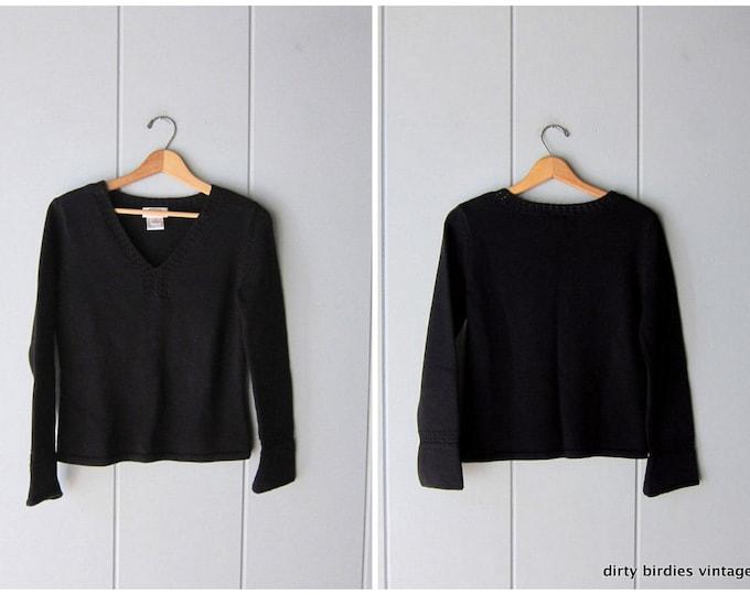 Black Cotton Sweater - Small