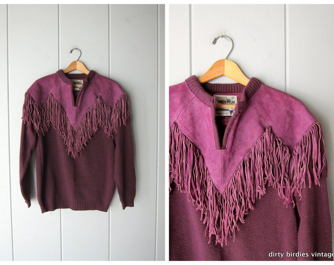 Suede Fringed Sweater