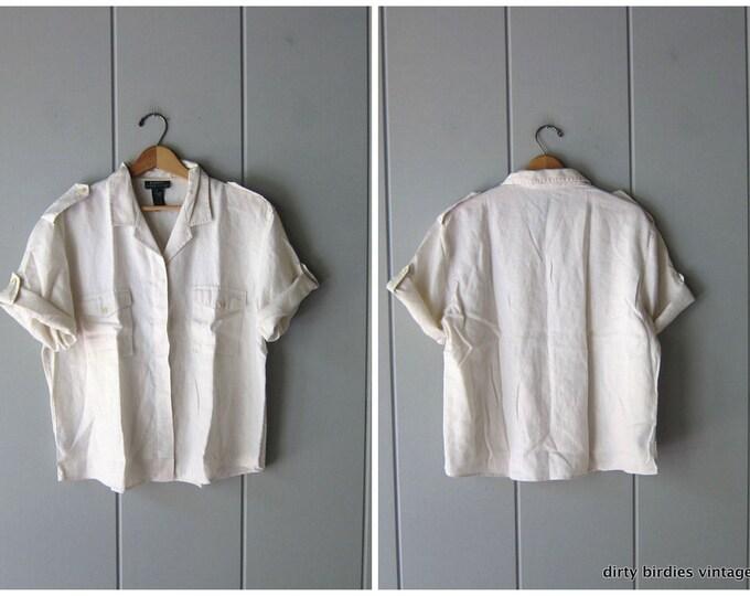 RL White Linen Top