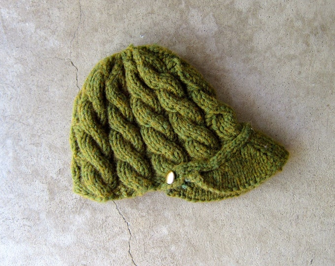 Moss Green Knit Cap