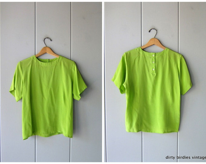 Lime Silk Top - XS/Small