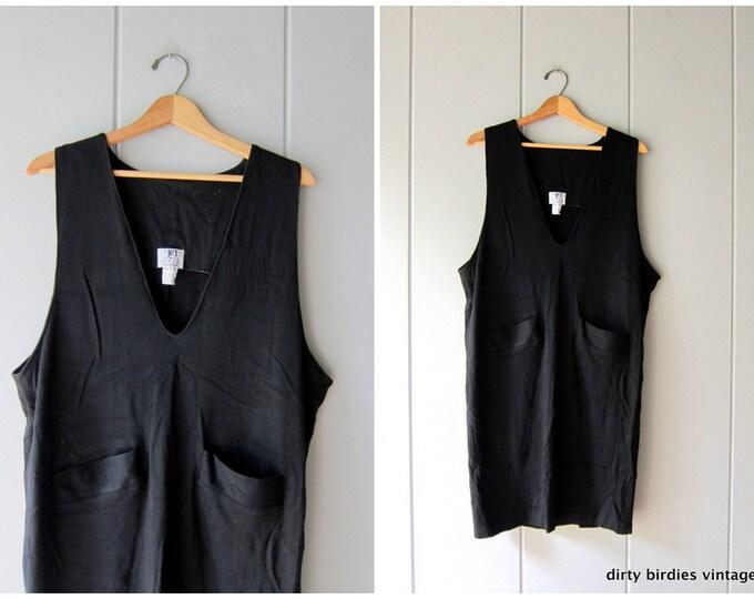 Basic Black Cotton Jumper - Large