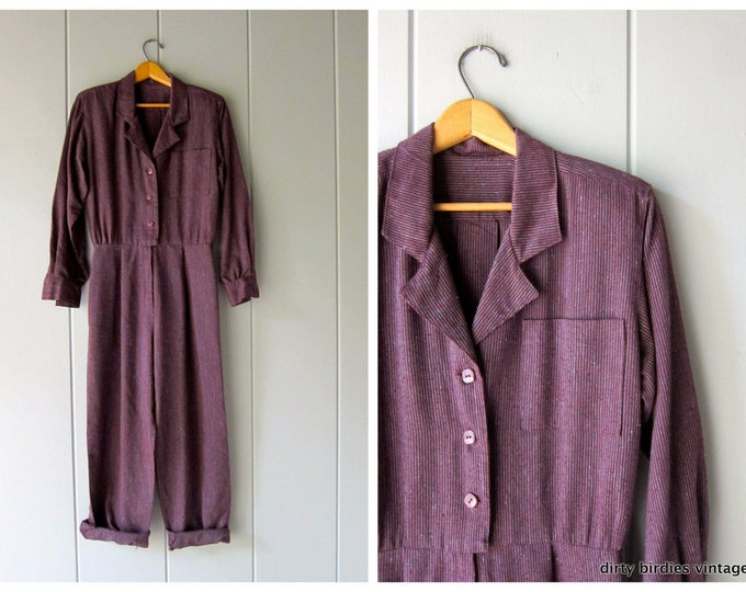 80s Purple Jumpsuit