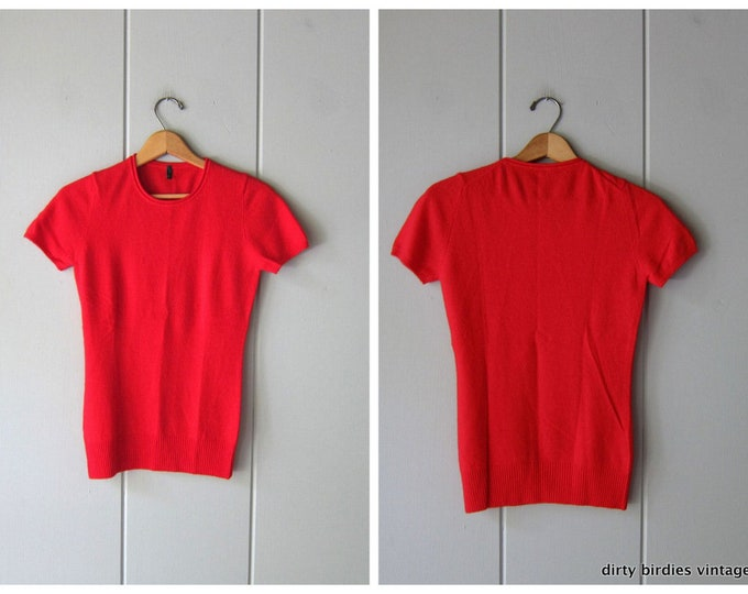Red Wool Sweater Top - Small