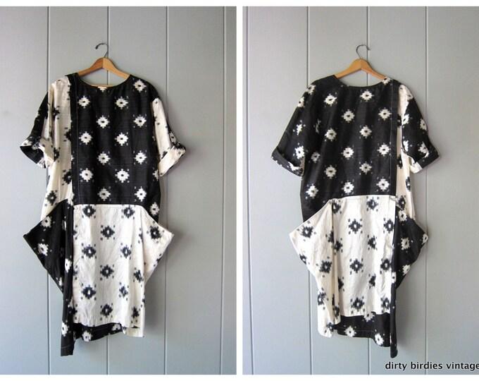 Modern Black White SILK Dress
