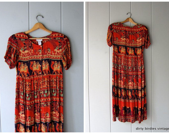 Tribal Boho Dress - Small