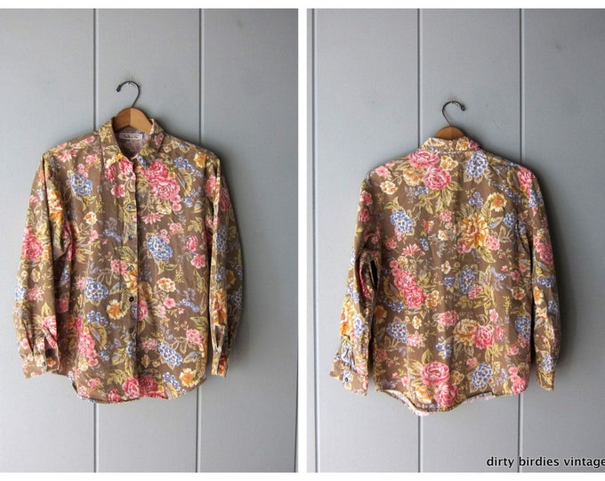 Colorful Floral Blouse - Small