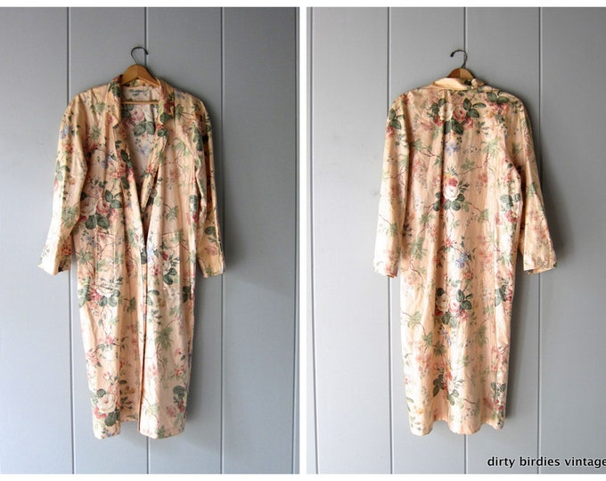 Pink Floral Rain Trench