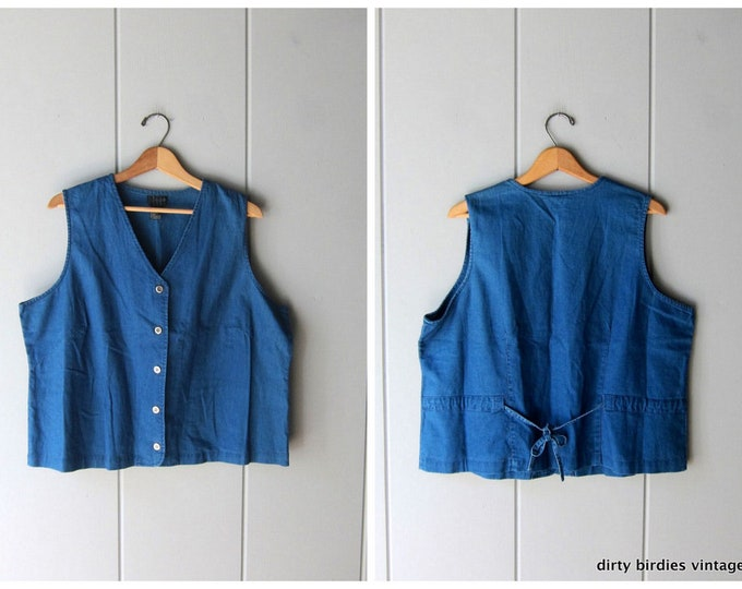 Indigo Blue Vest Top XL